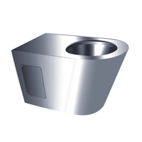 Portable One Piece Stainless Steel Wall Mounted Toilet